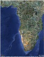 Satellitt kart over Afrika